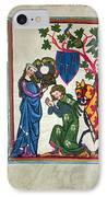 Minnesinger, 14th Century IPhone Case by Granger