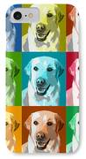 Golden Retriever Warhol IPhone Case