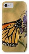 Monarch Butterfly IPhone Case by Sandy Keeton