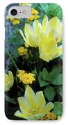 Monet's Fancy Tulips IPhone Case by Kathy Yates