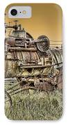 Montana Steam Punk - Nevada City Ghost Town IPhone Case by Daniel Hagerman