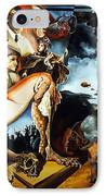 Monument To The Unborn War Hero IPhone Case by Otto Rapp
