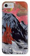 Mountains In Winter IPhone Case by Ernst Ludwig Kirchner