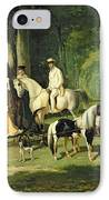 Mr And Mrs A Mosselman And Their Two Daughters IPhone Case by Alfred Dedreux