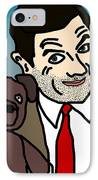 Mr Bean And Teddy IPhone Case