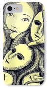 Multiple Personalities IPhone Case by Paulo Zerbato