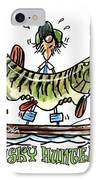 Musky Hunter - Cartoon IPhone Case by Peter McCoy