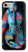 My Violin Whispers Music In The Night IPhone Case by Nikki Marie Smith