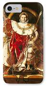 Napoleon I On The Imperial Throne IPhone Case by Ingres