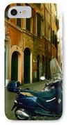 narrow streets in Rome IPhone Case by Joana Kruse
