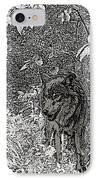Nature Walk Wolf IPhone Case by Debra     Vatalaro