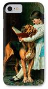 Naughty Boy Or Compulsory Education IPhone Case by Briton Riviere