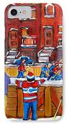 Neighborhood  Hockey Rink IPhone Case by Carole Spandau