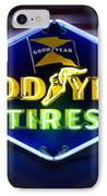 Neon Goodyear Tires Sign IPhone Case