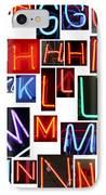 neon series G through N IPhone Case