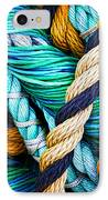 Nets And Knots Number Five IPhone Case by Elena Nosyreva