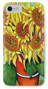 Never Enough Sunflowers IPhone Case by Andrea Folts