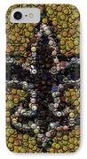New Orleans Saints  Bottle Cap Mosaic IPhone Case by Paul Van Scott