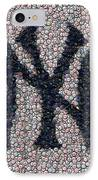 New York Yankees Bottle Cap Mosaic IPhone Case by Paul Van Scott