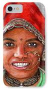 Northindian Woman IPhone Case