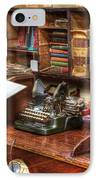 Nostalgia Office 2 IPhone Case by Bob Christopher