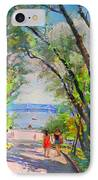 Nyack Park A Beautiful Day For A Walk IPhone Case by Ylli Haruni