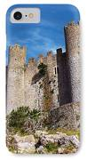 Obidos Castle IPhone Case by Carlos Caetano