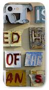 Ode To Art IPhone Case by Jill Reger