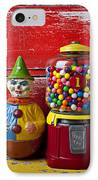 Old Clown Toy And Gum Machine  IPhone Case by Garry Gay