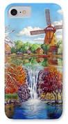 Old Dutch Windmill IPhone Case
