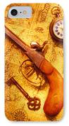 Old Gun On Old Map IPhone Case by Garry Gay