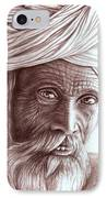 Old Indian Man IPhone Case
