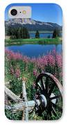 Old Wheel And Brooks Lake IPhone Case by Kathy Yates