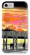 On The Beach IPhone Case by Bill Cannon