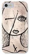 One Eye IPhone Case by Thomas Valentine