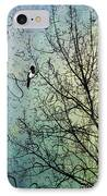 One For Sorrow IPhone Case by John Edwards