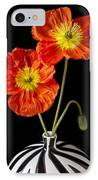 Orange Iceland Poppies IPhone Case by Garry Gay