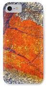 Orange Lichen IPhone Case by Heiko Koehrer-Wagner