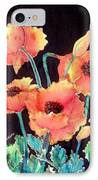 Orange Poppies IPhone Case by Francine Dufour Jones
