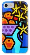 Oranges Flowers And Bottle IPhone Case by John  Nolan