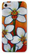 Orchid Oasis IPhone Case by Lisa  Lorenz