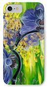 Orchids In A Gold Rain IPhone Case
