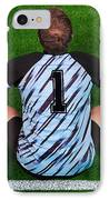 Overhead Shot Of A Goalkeeper On The Goal Line IPhone Case by Richard Thomas