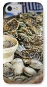 Oysters At The Market IPhone Case by Heather Applegate