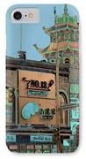 Pagoda Tower Chinatown Chicago IPhone Case by Marianne Dow