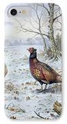 Pair Of Pheasants With A Wren IPhone Case by Carl Donner
