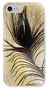 Peacock Feather Silhouette IPhone Case