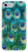 Peacock Feathers IPhone Case by Nikki Marie Smith