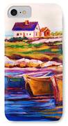 Peggys Cove  Four  Row Boats IPhone Case