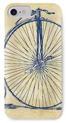 Penny-farthing 1867 High Wheeler Bicycle Vintage IPhone Case by Nikki Marie Smith